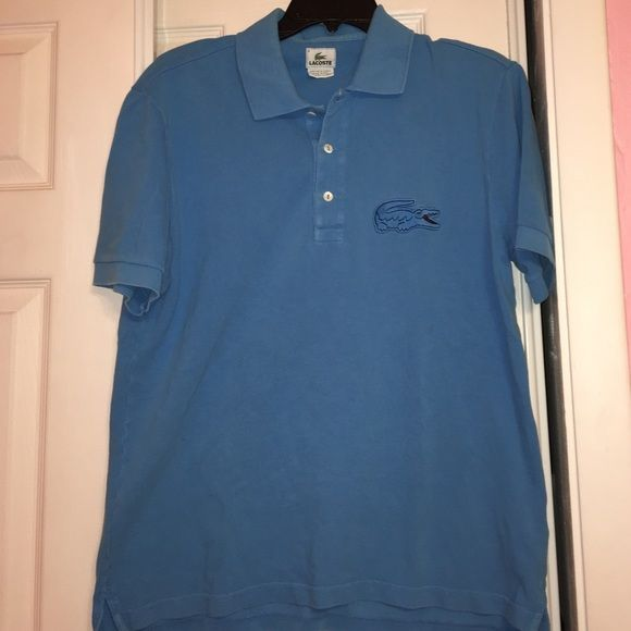 💰FINAL SALE💰Blue Men's Lacoste Polo Shirt. Blue Men's Lacoste Polo Shirt. In good condition, but a little faded. No returns, but I accept offers and willing to lower price. Serious buyers only please. Lacoste Shirts Polos