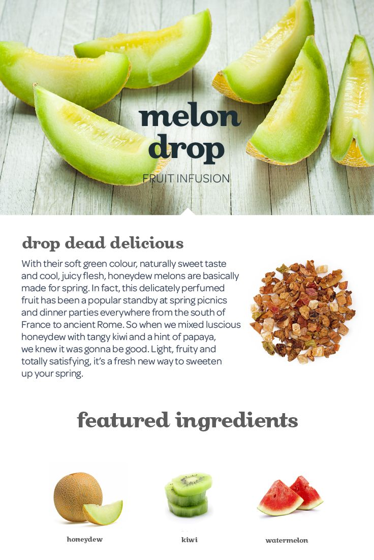 A lusciously fruity blend of honeydew melon and kiwi with a hint of papaya.