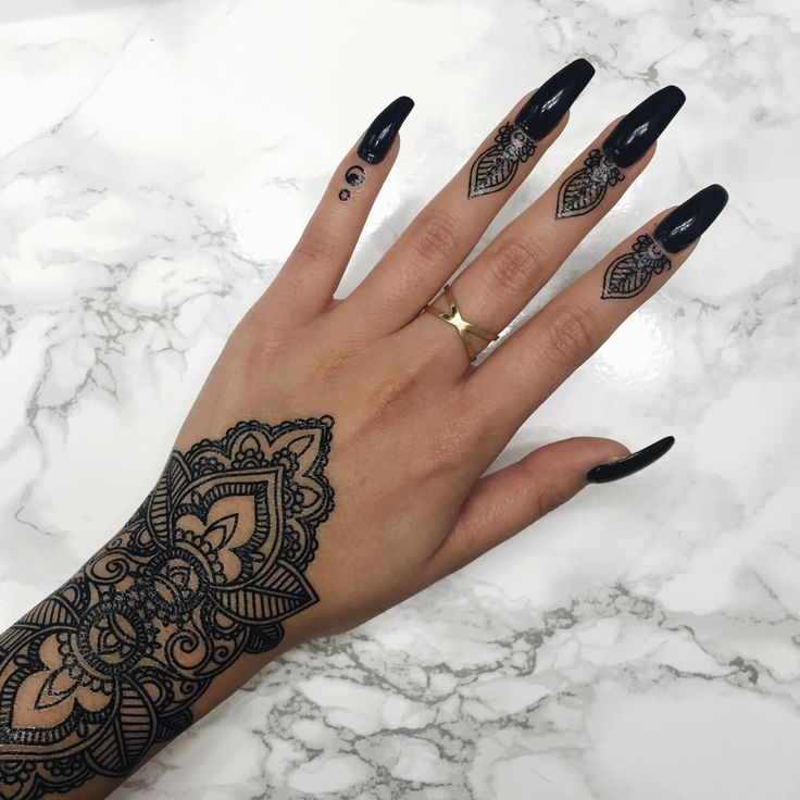 Mehndi Tattoo Sleeve: Hand Tattoos, Finger Henna, Tattoos
