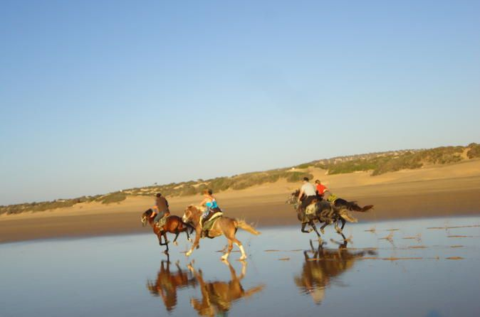 Horse Ride on the Beach in Essaouira 									Enjoy a 2-hour horseback ride on the beach of Essaouira, and visit the dunes and the forest, too. It's a fantastic experience with gentle and well-trained horses. All levels are welcome as the guide will adapt to your riding experience. Helmets are provided but please wear long trousers and trainers for your comfort during the ride. 		 		 											Enjoy a 2 hour horse ride on the beach of Essaouira, in the dunes and in the f...
