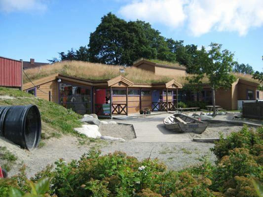 Baldershage barnehage Scandinavian daycare - backyard for children to play