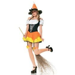 Sexy Candy Corn Witch Costume