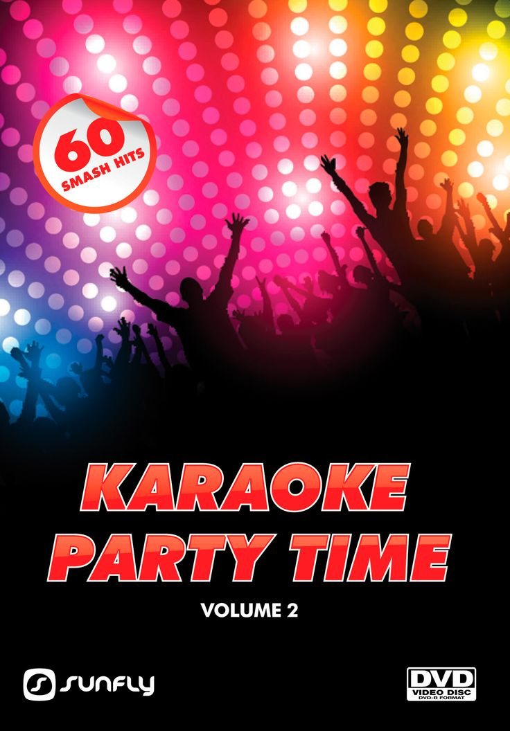 Sunfly Karaoke Party Time Volume 2 DVD with 60 popular hits to bring your party to life, collect the entire set as they don't have any repeats in the series