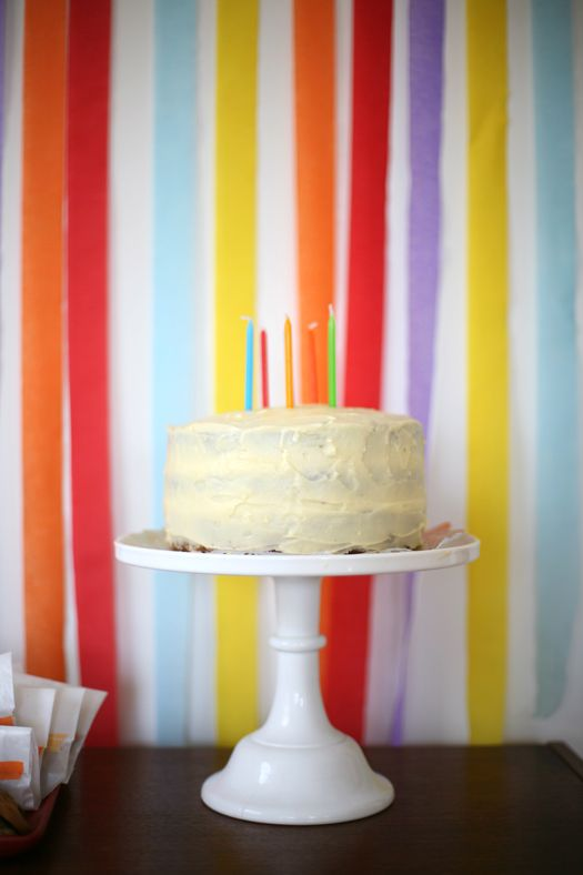 Birthday Birthday love the streamers in bright colors hanging down wall.  so doing this behind the desserts