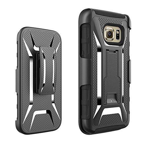 S7 Case Galaxy S7 Case MoboZx [Premium Holster Combo] Protective Heavy-Duty Scratch-Grippery Resistant Shock-Absorbent Bumper With Kickstand-Locking Belt Swivel Clip For Samsung Galaxy S7 (Black)