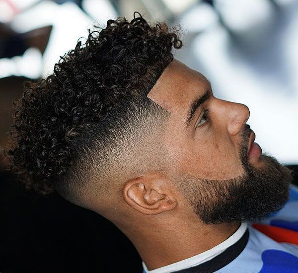 Curly Hair Low Fade Designs