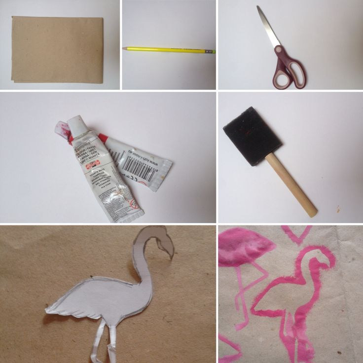 Back to school diy: FLAMINGO BOOKLET COVER