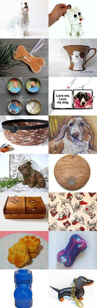 Dogs Are A Girl's Best Friend by Gail on Etsy--Pinned+with+TreasuryPin.com