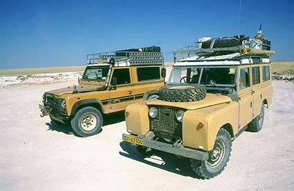 Both Generations together - Dutch Cheddar The Land Rover (101FC Ambulance)
