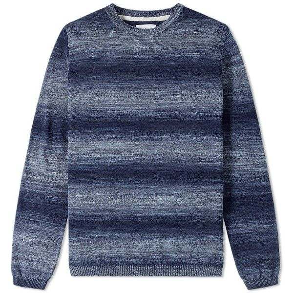 Norse Projects Arild Space Dye Crew Knit ($97) ❤ liked on Polyvore featuring men's fashion, men's clothing, men's sweaters, mens crew neck sweaters, mens knit sweater and mens crewneck sweaters