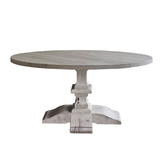Agnes Belgian Round Dining Table Various Diameters Possible From 120 To 220  Cm Material: Oak