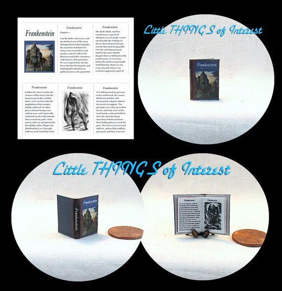 FRANKENSTEIN by Mary Shelley MINIATURE by LittleTHINGSinterest