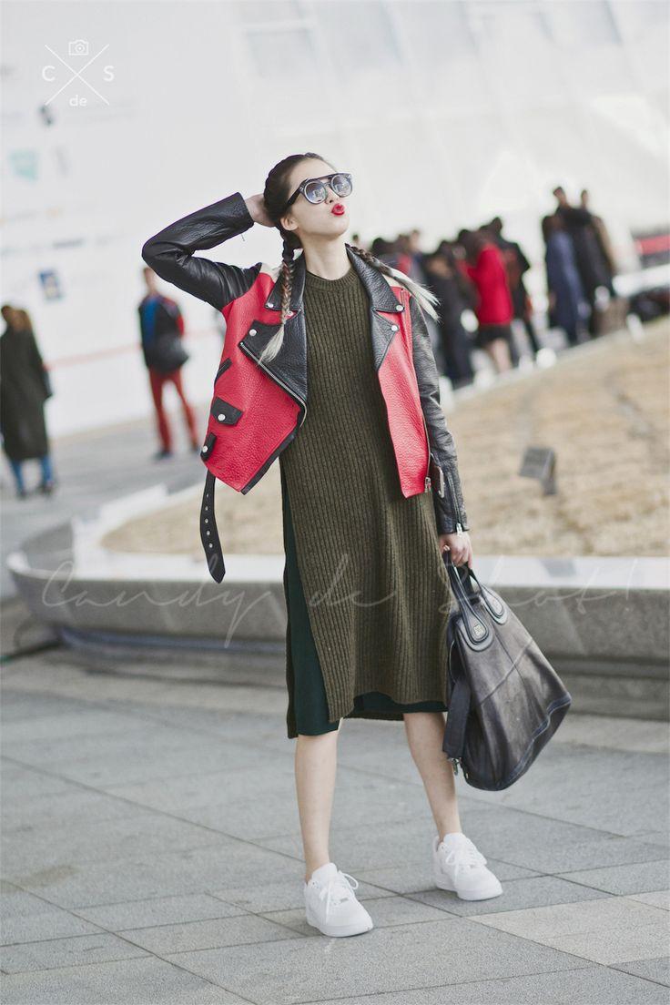 Seoul Fashion Week 2015 S/S Street style!!! #model #offduty #IreneKim