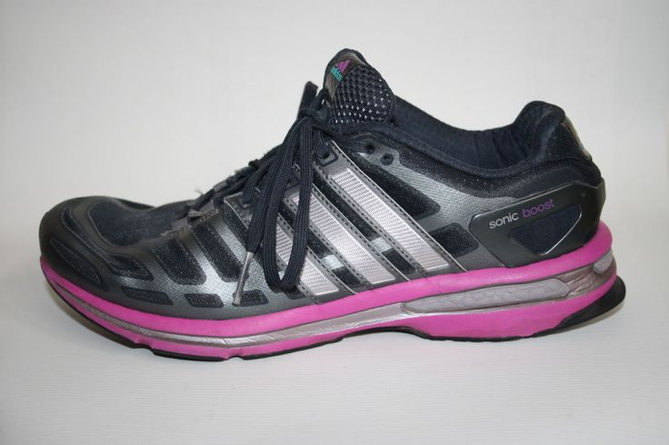 Adidas Sonic Boost Woman s Shoes Trainers Black Grey Pink Fitness Running 8 UK