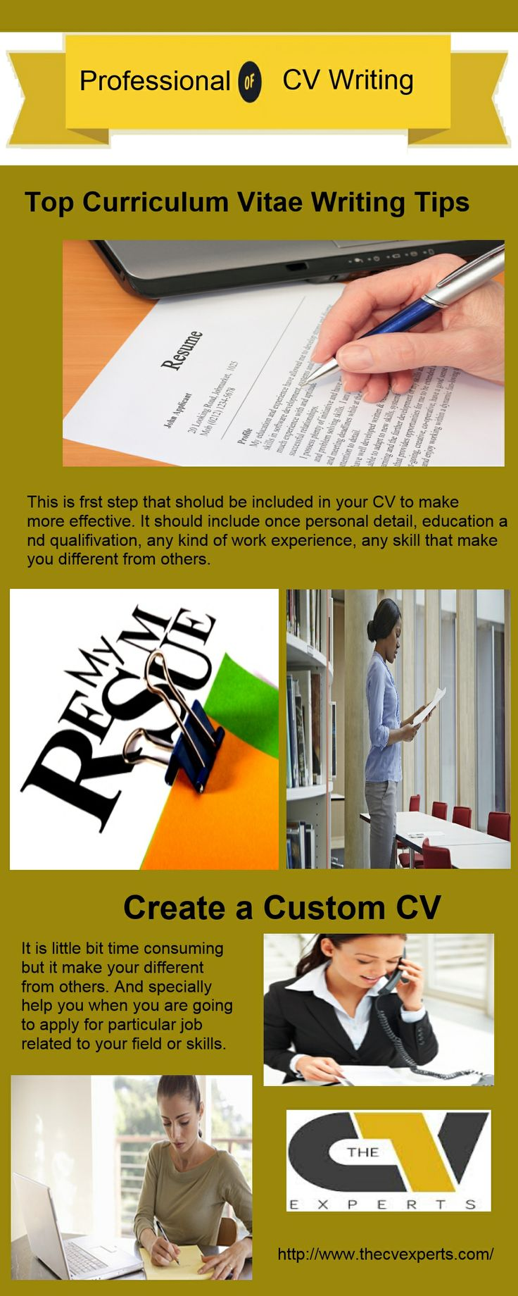 When you can study after that you have to make your cv for your better carrier and growth then some times you can not able to do that perfectly or due to some other. So visit here for more information: http://www.thecvexperts.com/cv-masterclasses/.