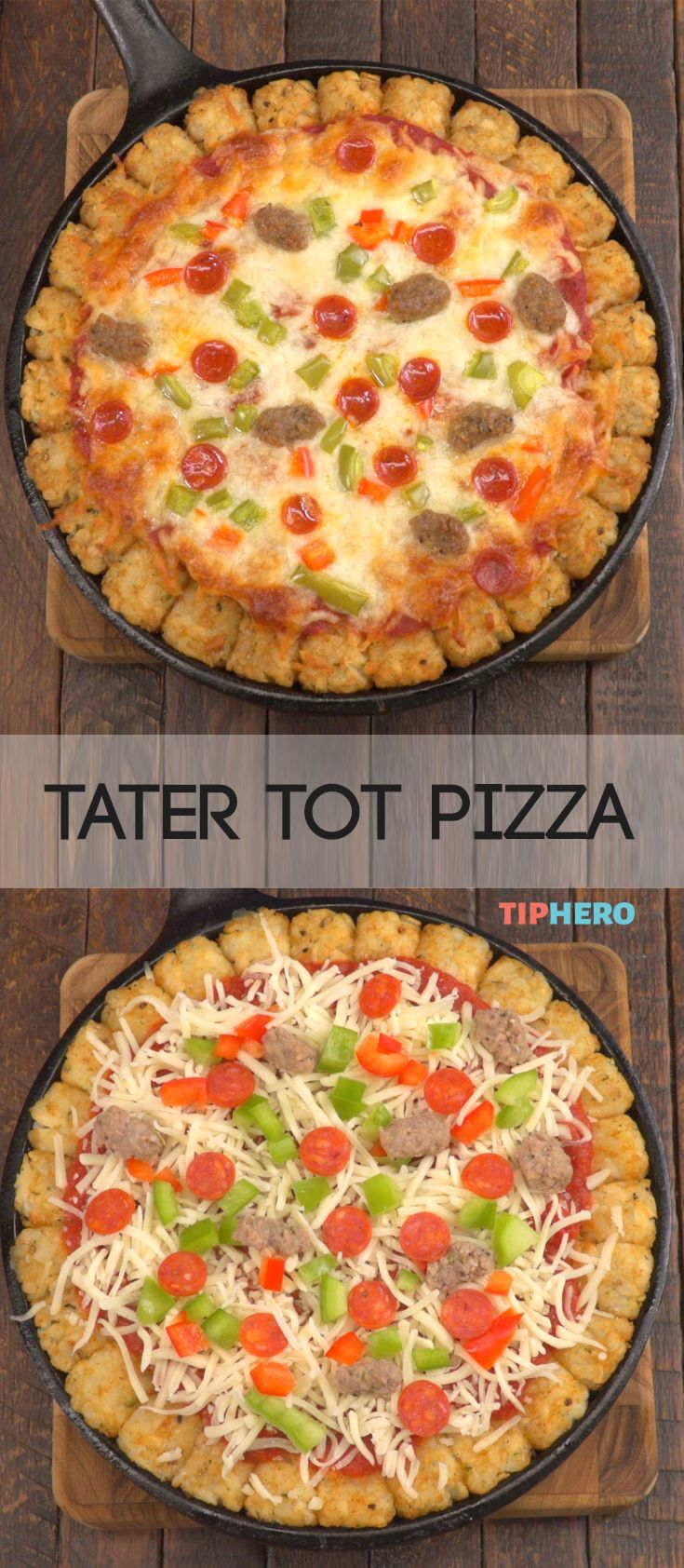 Tater Tot Pizza Crust The Kitchen