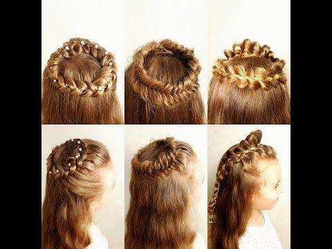 Angel hairstyles! - Angel  braid crown. Венок из косы. Коса-корона. - YouTube
