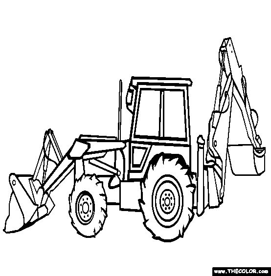 free backhoe coloring pages - photo#2