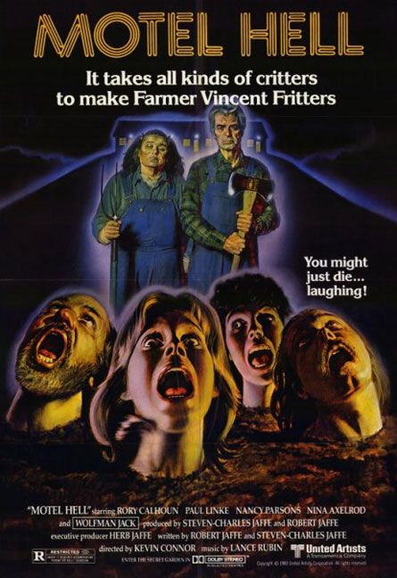 Motel Hell was one of the first horror movies I saw as a kid, and I can remember watching it over and over again with my cousins.