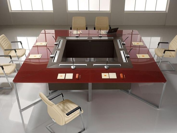 Modular square meeting table I-Meet Collection by Las Mobili