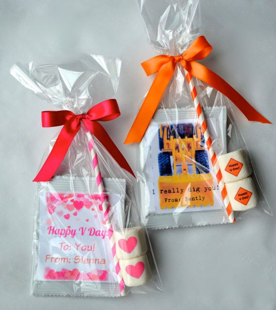 24 Personalized Valentine Hot Chocolate Kits By Candywithatwist Com