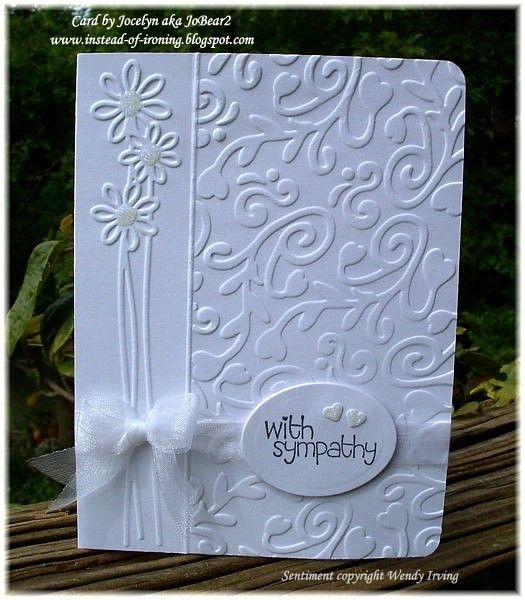 Cuttlebug Card Samples | ... Blogspot: Sympathy card using Cuttlebug and Sizzix embossing folders