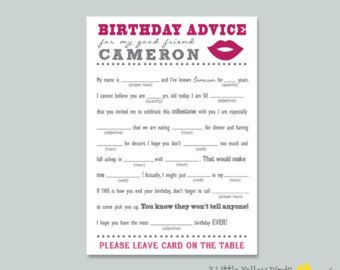 Comedy Roast & Toast Adult Birthday Guest Libs by LRWCreationsLLC                                                                                                                                                      More
