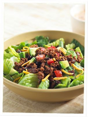 Taco Salad with Fakin Bacon and Smart Groundsup/sup | Vegetarian Recipes | Lightlife