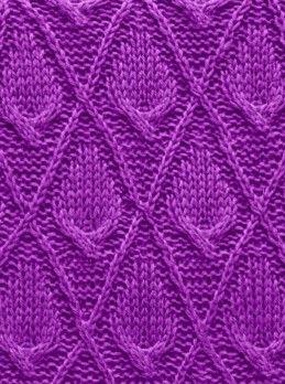 Diamond cable pattern