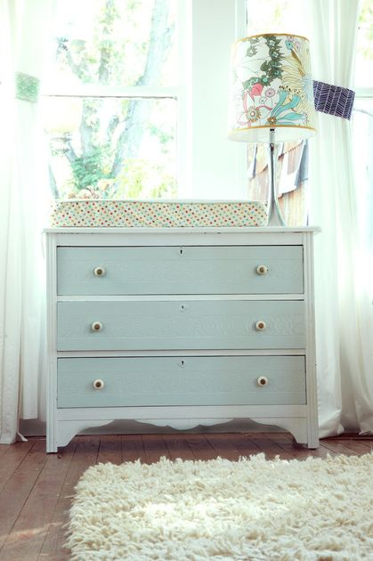 This is what my dresser/changing table will looks like roughly. I need to paint it and get new drawer pulls though.