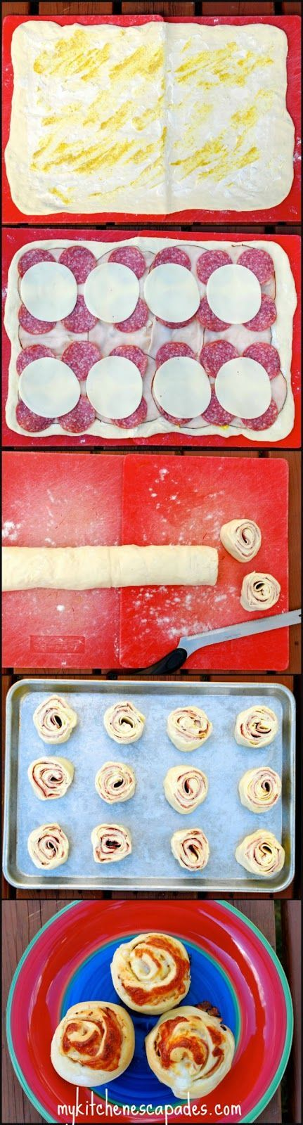 Hot Italian Club Roll-Ups:  serve these rolls hot for dinner or cold for an amazing lunch box surprise!