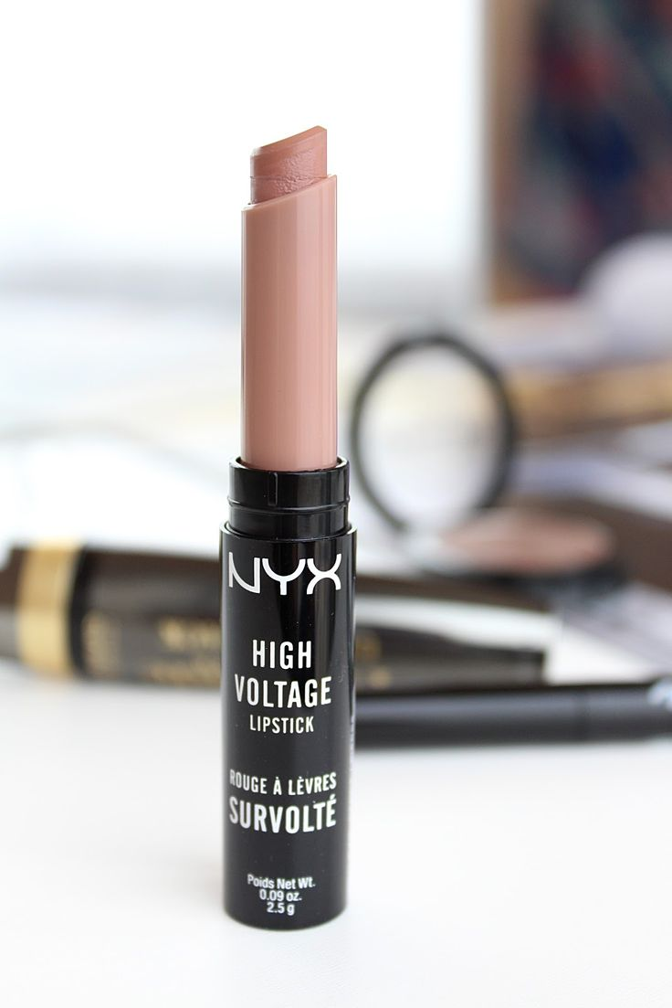 NYX High Voltage Lipstick in Stone Swatches and Review