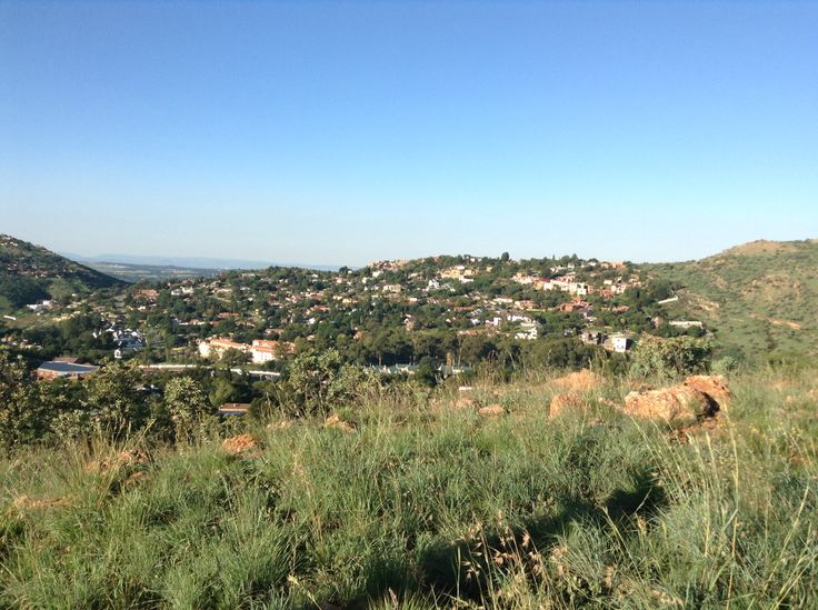 On top of a small mountain next to the place we were staying at in Johannesburg. Looking out into the city.