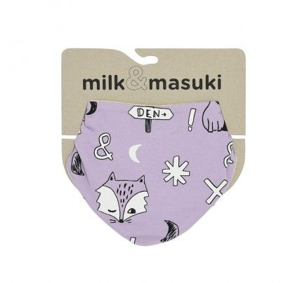 Fox Dreaming Dribble Bib from Milk & Masuki's AW16 collection.  Available at www.babydino.com.au
