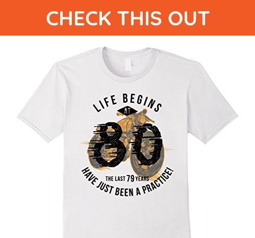 Mens Life Begins at 80 - Vintage 80th Birthday Gift T-Shirt 3XL White - Birthday shirts (*Amazon Partner-Link)