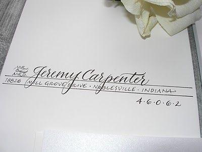 Fun way to write an address