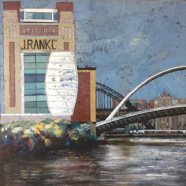 The Baltic and Millennium Bridge by Judy Appleby  -  North of…