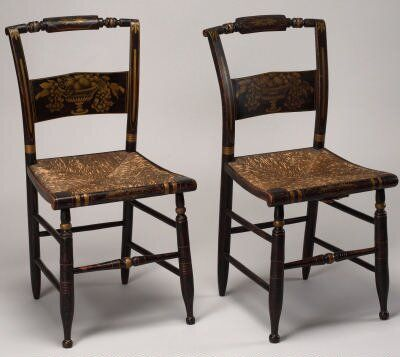 American Antique Icon, The Hitchcock Chair. Lambert Hitchcock Died  Insolvent In 1852.