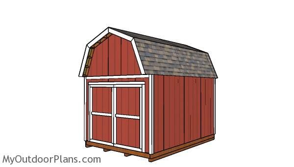 10x14 Gambrel Shed Plans Shed Build A Playhouse Diy Shed