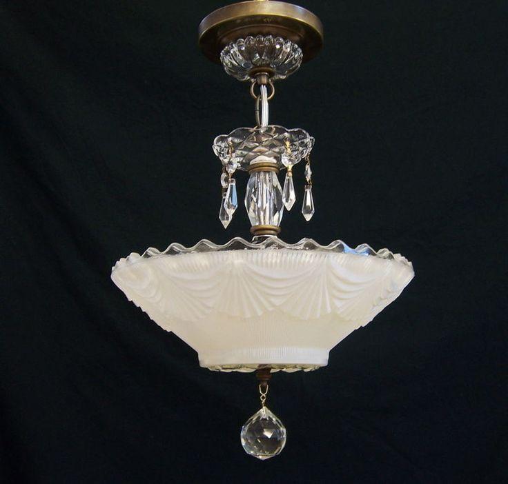 47 best vintage art deco ceiling lights images on pinterest vintage art deco ceiling light fixture chandelier elegant and simple ebay aloadofball Image collections