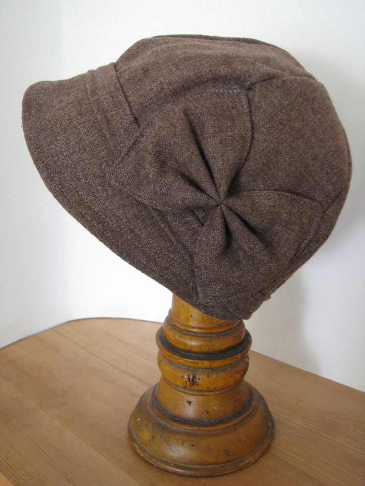 Brown Wool Cloche with Bow Fall Winter Hat Wool Cap by sugarsoul on Etsy