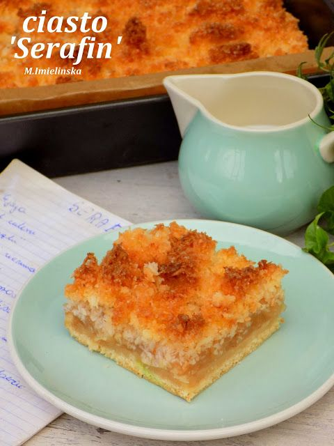 Domowa Cukierenka - Domowa Kuchnia: Serafin- ciasto z jabłkami i kokosem