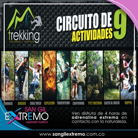 Ven y Disfruta 4 horas de #Adrenalina #Extrema en contacto con la naturaleza. Entérate como realizar este #Tour en http://goo.gl/6x9oUB Contáctanos en: Calle 7 # 10 - 26 Piso 3 Frente al Malecón San Gil Santander. Cel. 304 572 52 20 info@sangilextremo.com.co