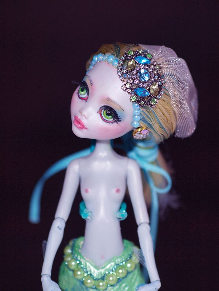"""Taila"" OOAK Monster High Custom Mermaid Doll Repaint Redress by Artist Bianka 