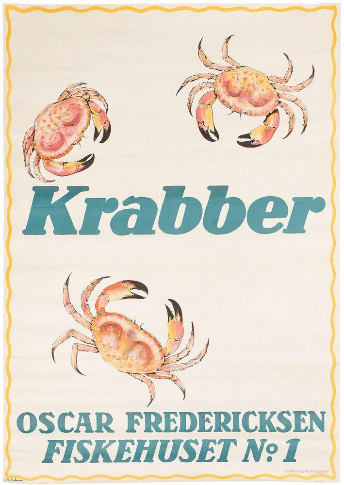 Krabber. Crab, Shell Fish Poster