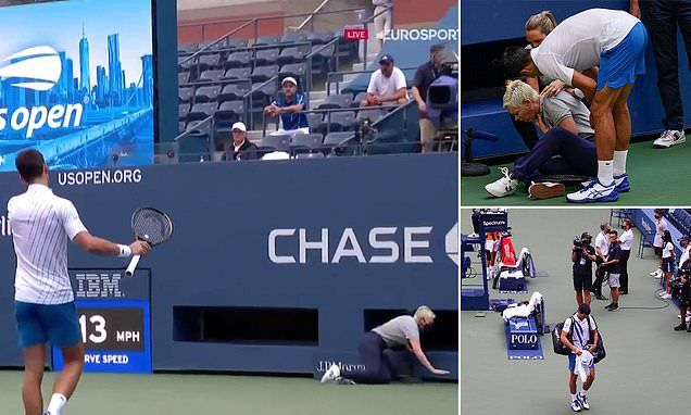 Novak Djokovic Disqualified From Us Open For Hitting A Ball At A Judge In 2020 Darwin Awards Novak Djokovic Judge