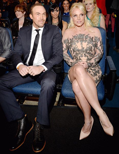 Britney Spears and her new boyfriend David Lucado made their first-ever red carpet appearance together at the 2014 People's Choice Awards.