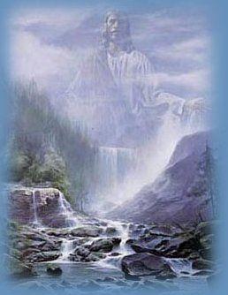 My Living Water, Jesus is the Living Water Christian ecard scripture Psalms 23:2-3 KJV