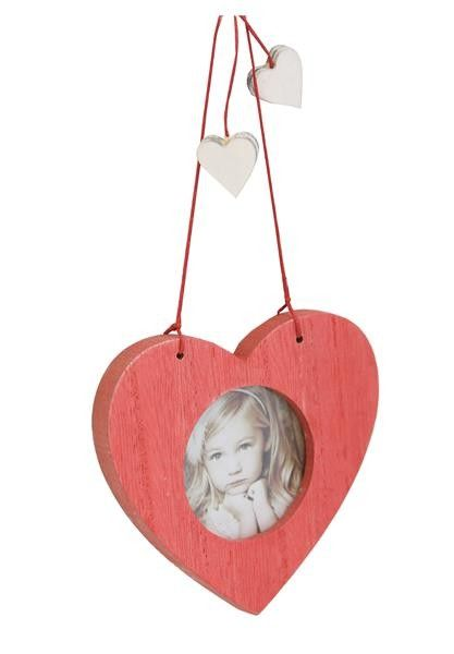 Christmas Photo Decoration - Red Christmas Heart