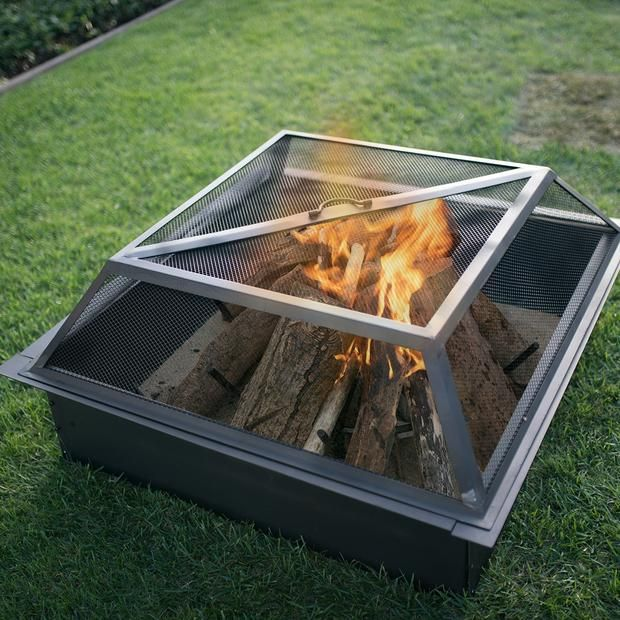 39 In Square Spark Screen Outdoor Living Outdoor Fire Pit Ring